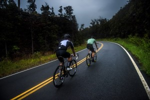 Eric and Clint riding on the Southern coast of Kona Hawaii