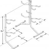 home-bike-stroage-bike-bunk-line-drawing-with-measurements